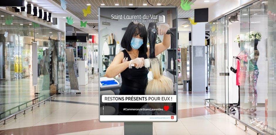 Campagne Soutien Commercants Saint Laurent Du Var Bhb Agence De Communication Web